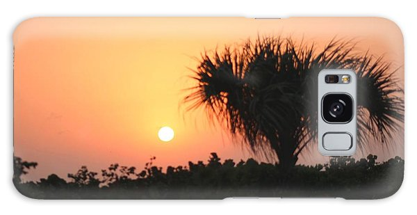 Sun Rise And Palm Tree Galaxy Case