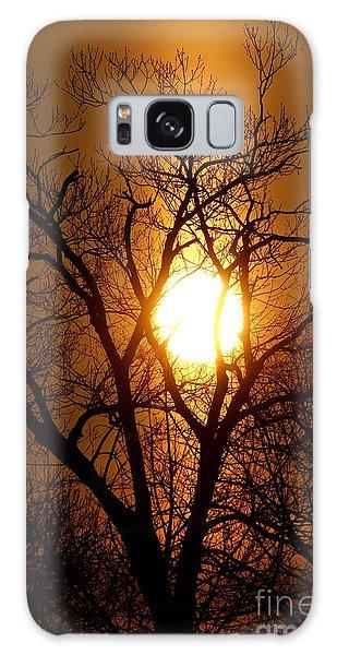 Sun Rise Sun Pillar Silhouette Galaxy Case
