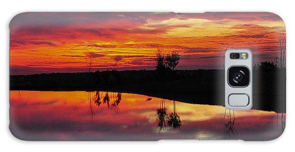 Sun Set At Cowen Creek Galaxy Case by John Johnson