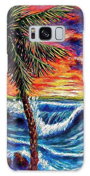 Sun Set Palm Galaxy Case