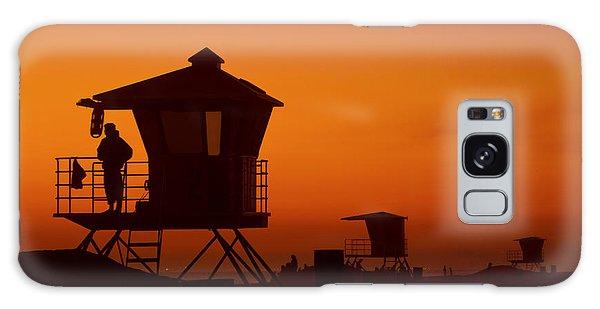Sun Sets On Huntington Beach Galaxy Case
