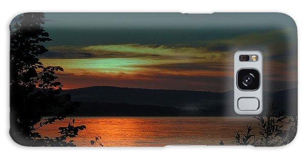 Sun Sets On Winnisquam Galaxy Case