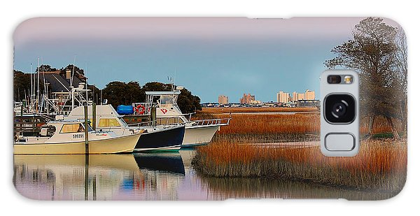 Sun Setting At Murrells Inlet Galaxy Case by Kathy Baccari