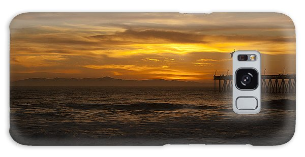 Sun Setting Behind Santa Cruz With Ventura Pier 01-10-2010 Galaxy Case by Ian Donley