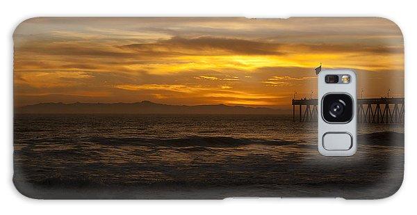 Sun Setting Behind Santa Cruz With Ventura Pier 01-10-2010 Galaxy Case by Ian Donley