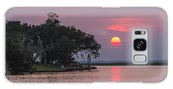 Sun Setting In The Bayou Galaxy Case by Brian Wright