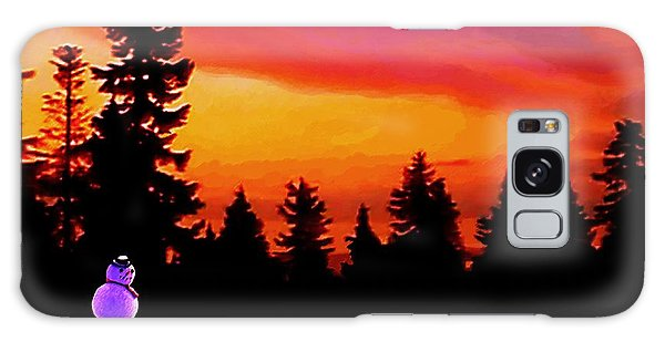 Sun Setting On Snow Galaxy Case by Sophia Schmierer