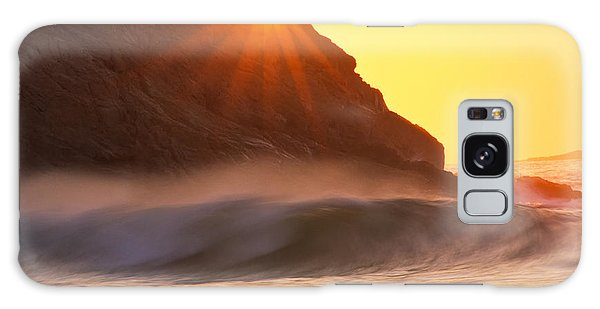 Galaxy Case featuring the photograph Sun Star Singing Beach by Michael Hubley
