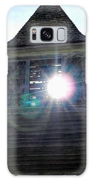 Sun Through The Steeple-by Cathy Anderson Galaxy Case by Cathy Anderson