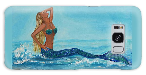 Sunbathing Mermaid Galaxy Case