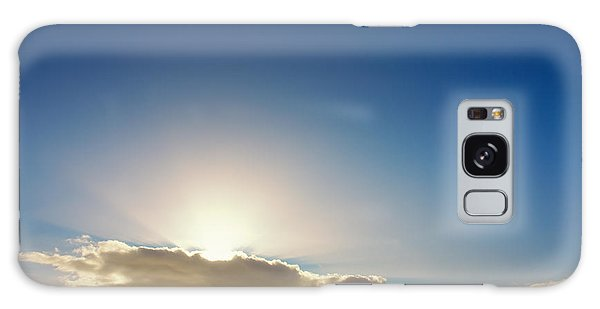 Sunbeams Behind Clouds Galaxy Case