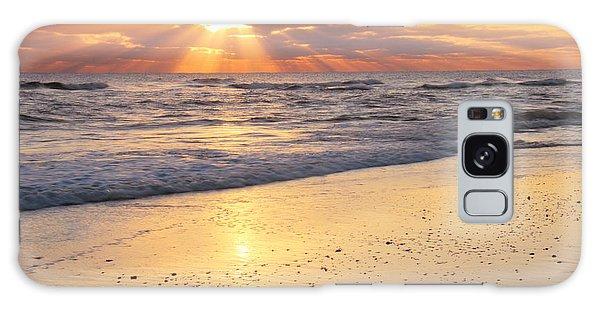 Sunbeams On The Beach Galaxy Case