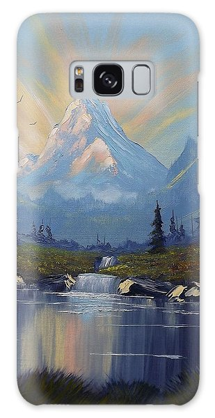 Sunburst Landscape Galaxy Case by Richard Faulkner