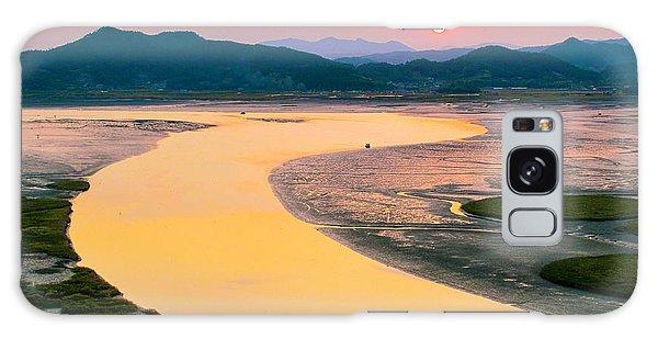 Suncheon Bay Sunset Galaxy Case