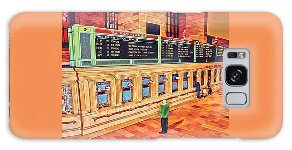Galaxy Case featuring the painting Sunday Am At Grand Central by Deborah Boyd