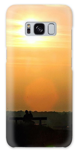 Sunday Sunset Galaxy Case