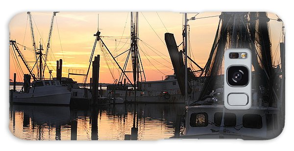 Sundown At Marshallberg Harbor Galaxy Case by Dan Williams