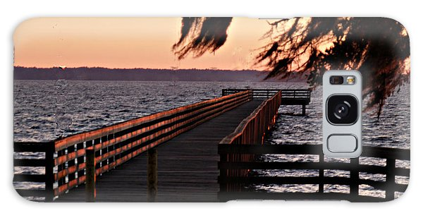 Sundown At Shands Dock Galaxy Case