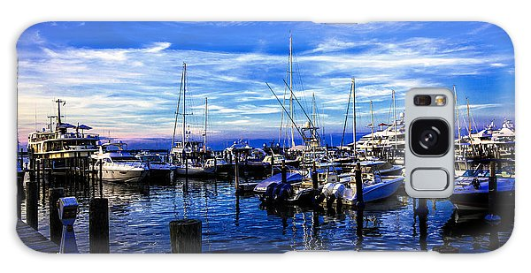 Motor Yacht Galaxy Case - Sundown In Sag Harbor by Madeline Ellis