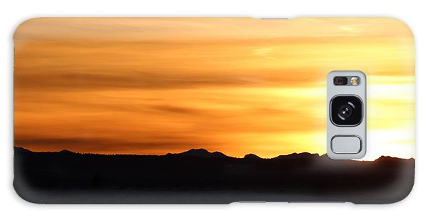 Galaxy Case featuring the photograph Sundre Sunset by Ann E Robson
