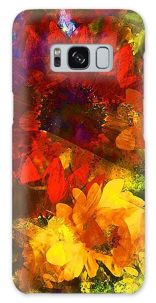 Sunflower 11 Galaxy Case by Pamela Cooper