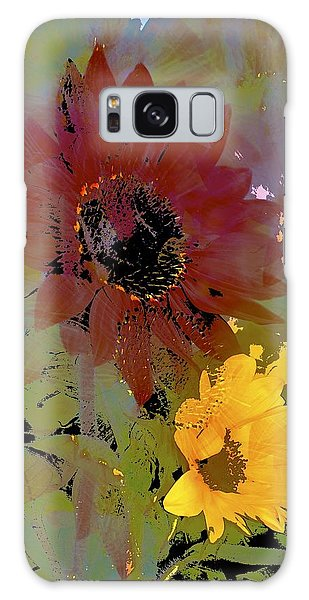 Sunflower 33 Galaxy Case by Pamela Cooper