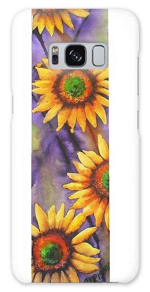 Sunflower Abstract  Galaxy Case by Chrisann Ellis