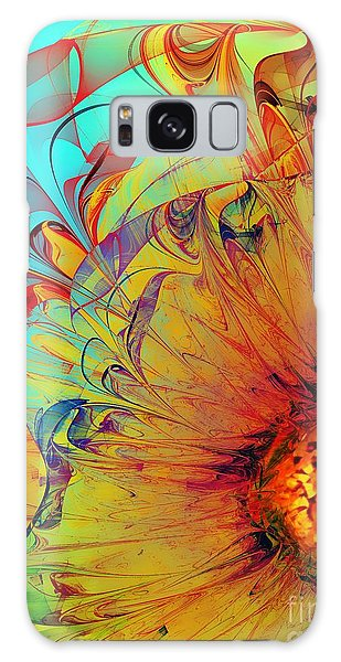 Sunflower Abstract Galaxy Case by Klara Acel