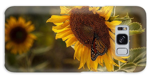 Sunflower And Butterfly Galaxy Case by Scott Bean