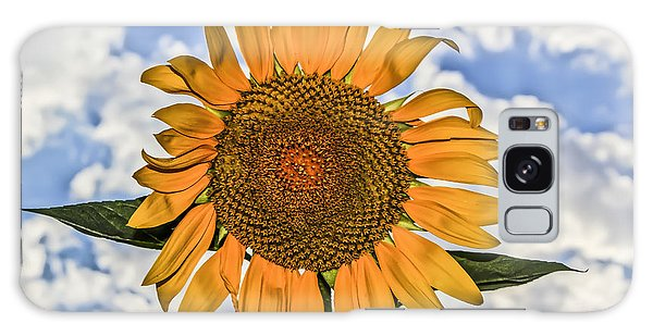 00008 Sunflower And Clouds Galaxy Case