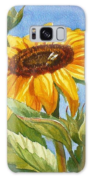 Sunflower And Honey Bee Galaxy Case