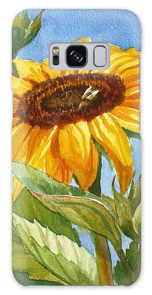 Sunflower And Honey Bee Galaxy Case