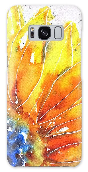 Sunflower Blue Orange And Yellow Galaxy Case