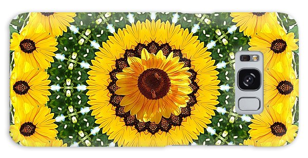 Sunflower Centerpiece Galaxy Case