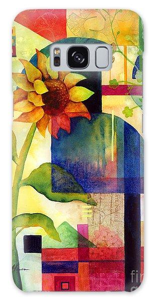 Summertime Galaxy Case - Sunflower Collage by Hailey E Herrera