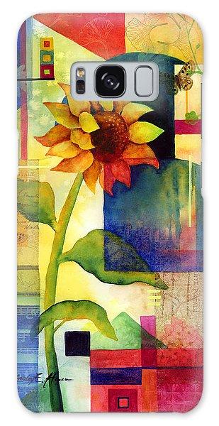 Bloom Galaxy Case - Sunflower Collage by Hailey E Herrera