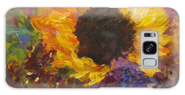 Sunflower Dance Original Painting Impressionist Galaxy Case
