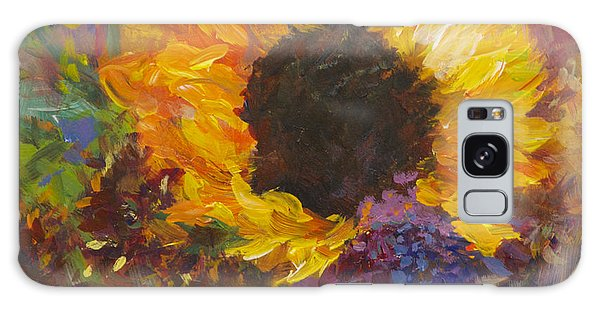 Sunflower Dance Original Painting Impressionist Galaxy Case