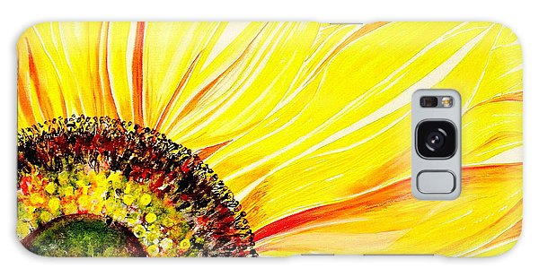 Sunflower Day Galaxy Case by Julie  Hoyle