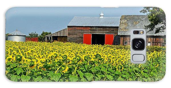 Sunflower Farm Galaxy Case