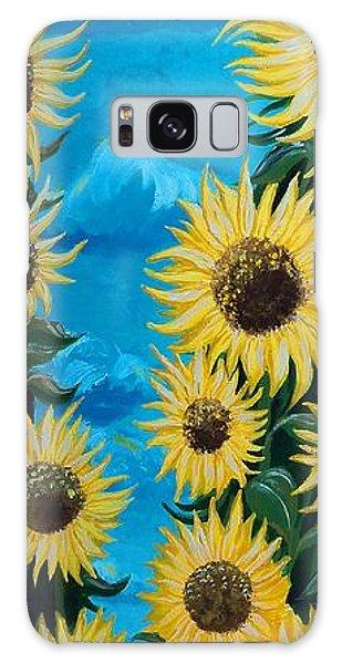 Sunflower Fun Galaxy Case