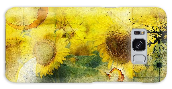 Sunflower Grunge Galaxy Case