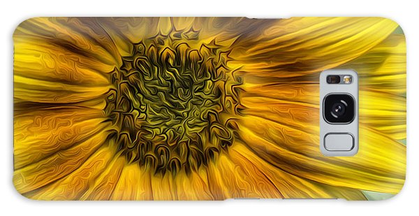Sunflower In Oil Paint Galaxy Case