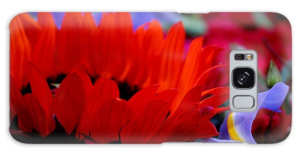 Sunflower Iris Love Galaxy Case by Jeanette French