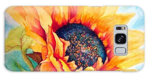 Sunflower Joy Galaxy Case by Janine Riley