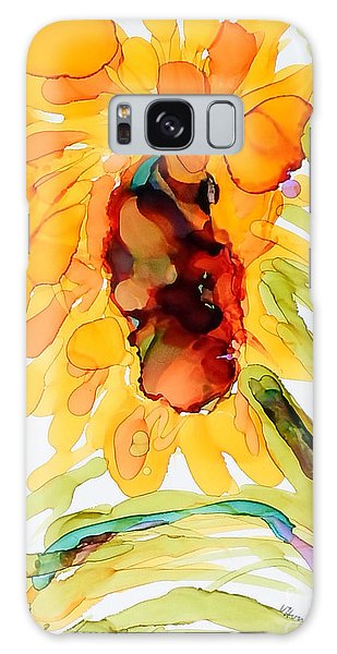 Sunflower Left Face Galaxy Case