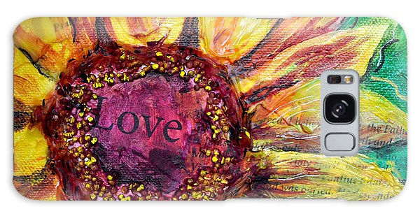 Sunflower Love  Galaxy Case