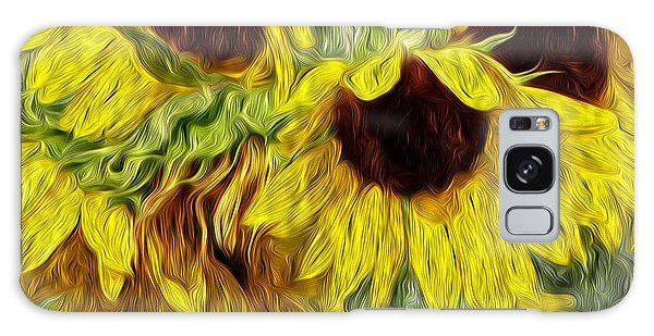 Sunflower Morn  Galaxy Case by Ecinja Art Works