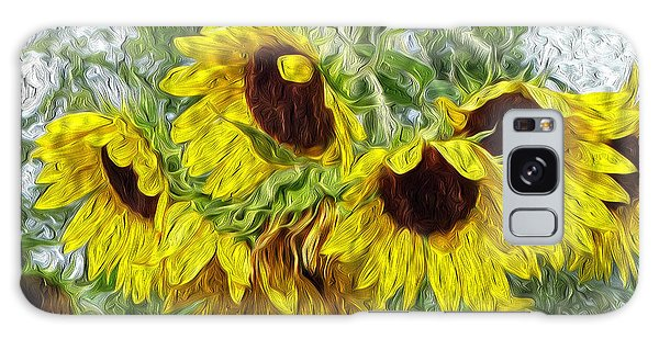 Sunflower Morn II Galaxy Case by Ecinja Art Works