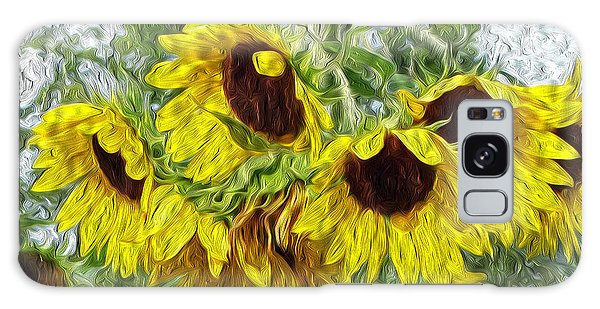 Sunflower Morn II Galaxy Case